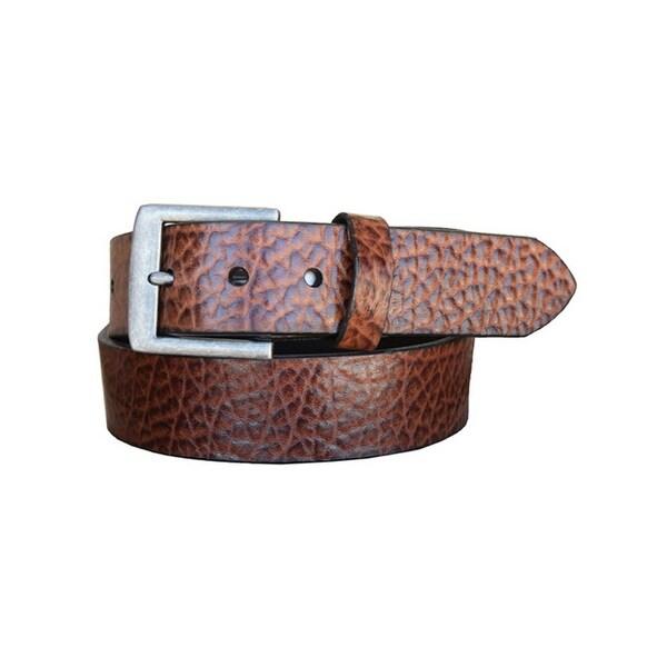 Vintage Bison Western Belt Mens Chaparral Leather Peanut