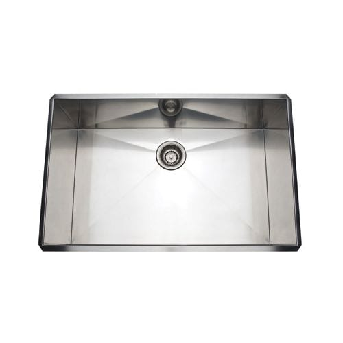 rohl rss3018 30   stainless steel kitchen sink with tangent edge   free shipping today   overstock com   19874656 rohl rss3018 30   stainless steel kitchen sink with tangent edge      rh   overstock com
