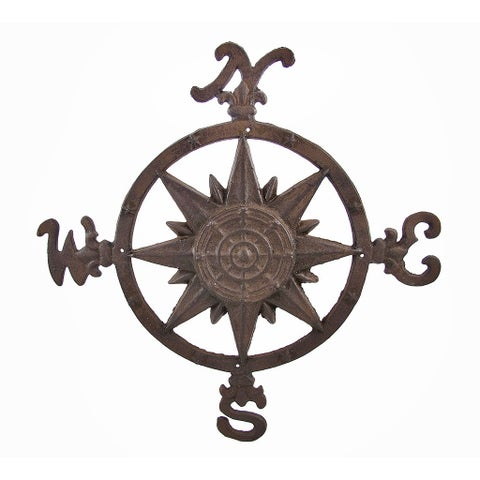 Cast Iron Compass Rose Wall Accent Indoor/Outdoor Use