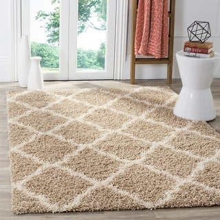 Link to Safavieh Dallas Shag Giusy Trellis 1.5-inch Thick Rug Similar Items in Shag Rugs