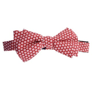 Tommy Hilfiger Mens Snowflakes Silk Adjustable Bow Tie - o/s