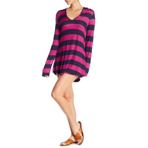 Splendid Women's Hooded Tunic, Berry, Medium