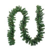 "9' x 10"" Pre-Lit Oak Creek Pine Artificial Christmas Garland - Multi Lights - green"