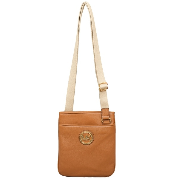 c35f644b38bc Shop Michael Kors Fulton Luggage Leather Crossbody Handbag - Free Shipping  Today - Overstock - 22703309