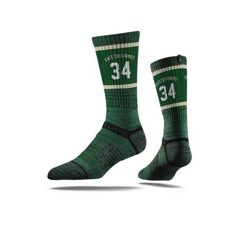 Milwaukee Bucks Giannis Antetokounmpo Jersey Forest Green Crew Socks