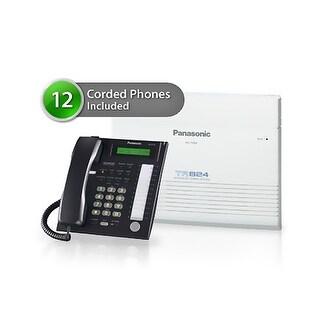 Panasonic KX-TA824-7736-8CO 12 Pack KX-TA824 Phone System + KX-TA82483 Exp. Card + KX-TA82481 Exp Card + KX-T7736 Corded Phones