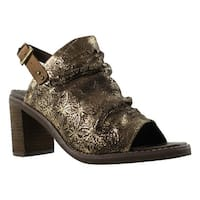 Naughty Monkey Womens Brown Ankle Strap Heels Size 7.5