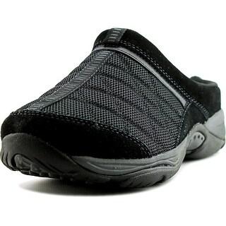 Easy Spirit EZ Time Women Round Toe Suede Black Walking Shoe
