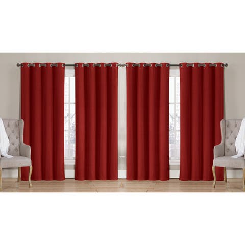 Nathan Solid Room Darkening Window Curtain Panels (2-pack or 4-pack)