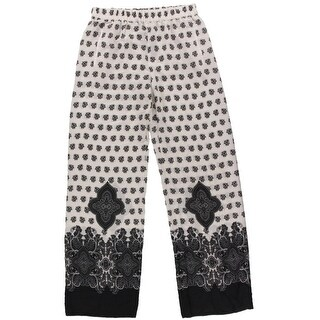 Zara Womens Pattern Casual Wide Leg Pants