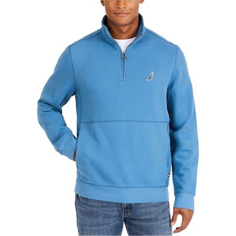 Nautica Mens Half Zip Sweatshirt, Blue, XXX-Large