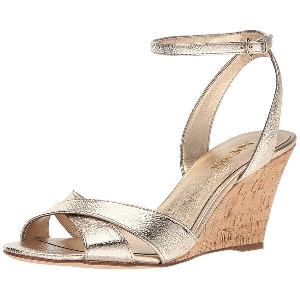 Nine West Women's Kami Metallic Wedge Sandal - 10