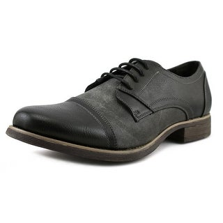 Madden Men Brack Men  Round Toe Synthetic Black Oxford