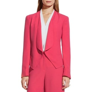 Vince Camuto Womens Open-Front Blazer Crepe Drapey