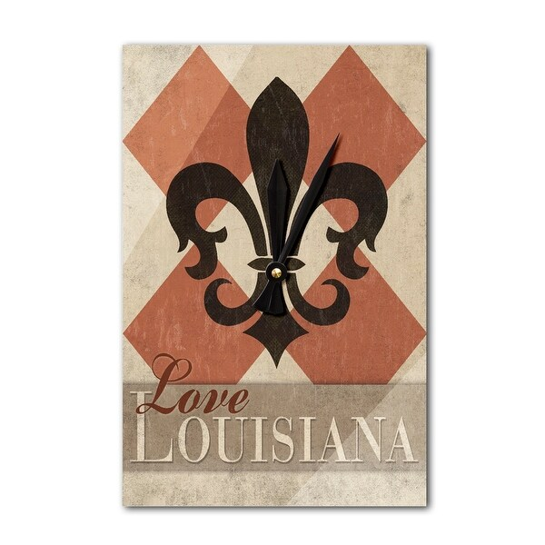 Love LA - Argyle w/ Fleur De Lis - LP Artwork (Acrylic Wall Clock) - acrylic wall clock