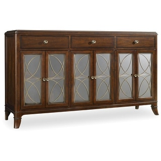 "Hooker Furniture 5183-75900  66-1/2"" Wide Hardwood Buffet from the Palisade Collection - Figured Walnut"