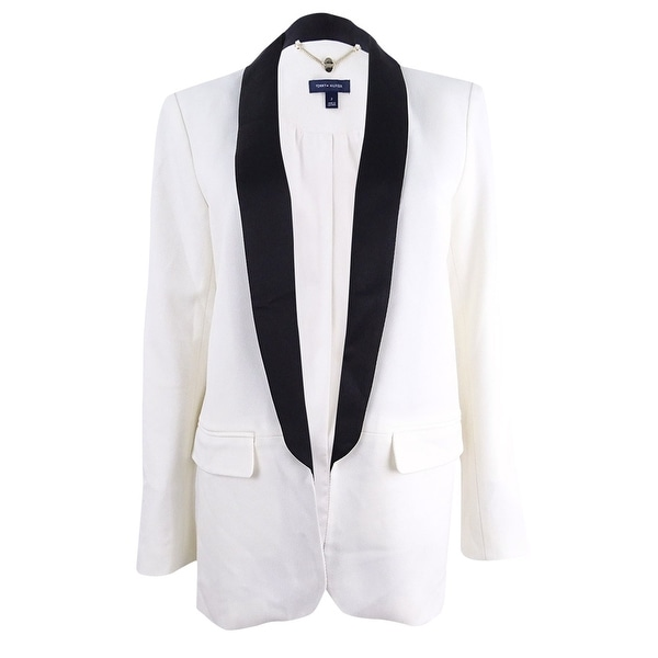 Tommy Hilfiger Womens Colorblocked Tuxedo Jacket