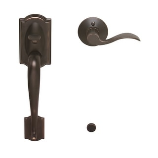 Schlage FE285-CAM-ACC-LH  Camelot Lower Handleset for Electronic Keypad with Accent Interior Left Handed Lever