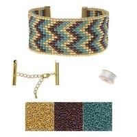 Refill - Cascading Chevrons Loom Bracelet - Exclusive Beadaholique Jewelry Kit