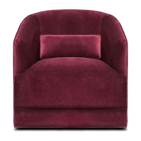 Hepburn Italian Fabric Upholstered Armchair with Lumbar Pillow