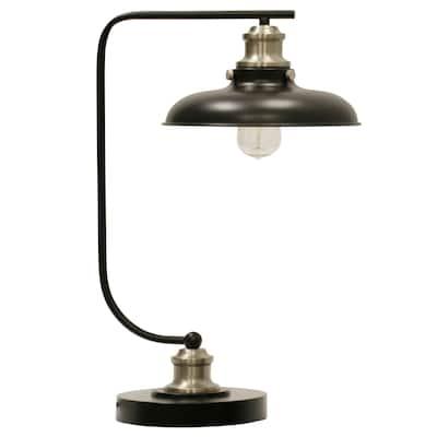 StyleCraft Arvin 1-light Industrial Dark Steel and Silver Metal Desk Lamp
