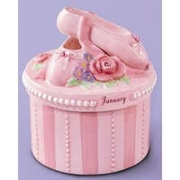Russ A Time to Dance Classics January Ballerina Trinket Box - Pink
