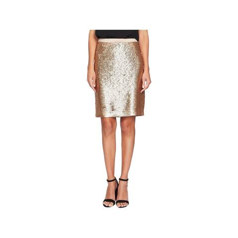 CeCe Womens Mini Skirt Sequined Pencil