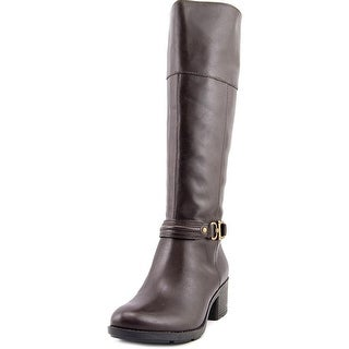 Bandolino Ulla Women Round Toe Leather Knee High Boot