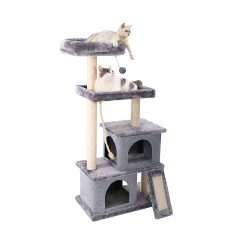 Cat Tree with Playhouse and Dangling Toy