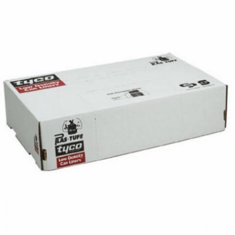 "Berry Plastics 850078 Big City LLDPE Glutton Liner, Gray, 43"" x 47"", 100-Ct"