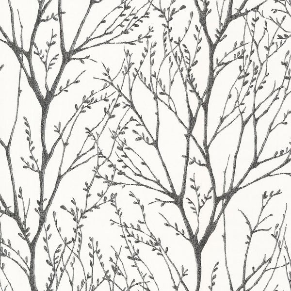 Brewster 2532-20424 Delamere Black Tree Branches Wallpaper - N/A