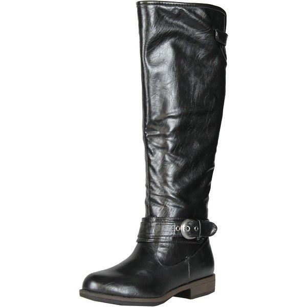 Bamboo Montage 08 Riding Buckle Knee High Boot