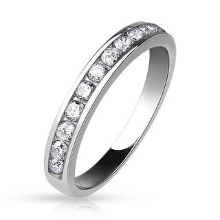 Half Circle CZ Eternity Ring (Sold Ind.) (5 options available)