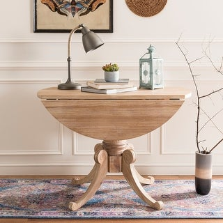 Link to Safavieh Forest Rustic Natural Drop Leaf Dining Table - Rustic Natural - 43.3' x 43.3' x 30.7' Similar Items in Dining Room & Bar Furniture