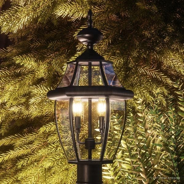 Luxury Colonial Outdoor Post Light 21 H X 11 W With