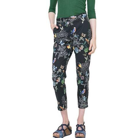 Desigual Women's Azahara Woven Long Trouser, Black, 38