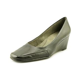 Aerosoles Barecuda Open Toe Synthetic Wedge Heel