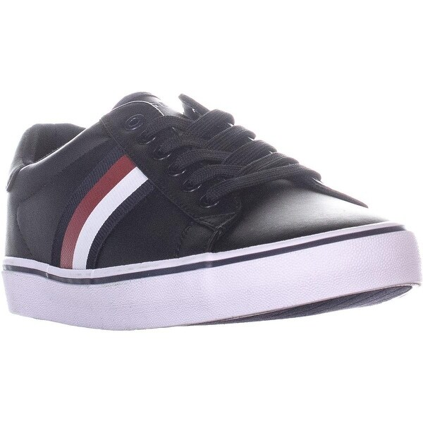 66eac937 Shop Tommy Hilfiger Paris Lace Up Sneakers, Black Multi - 8 us ...