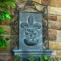 Sunnydaze French Lily Outdoor Wall Fountain - Thumbnail 1
