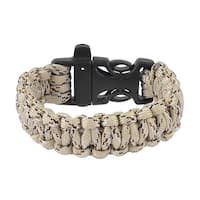Unique Bargains Plastic Quick Release Buckle Emergency Survival Whistle Bracelet Beige