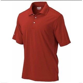 Ping Womens Classic Red Small Performance Polyester Short Sleeve Polo Golf Shirt