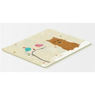 Carolines Treasures BB2492CMT Christmas Presents Between Friends Norwich Terrier Kitchen or Bath Mat 20 x 30