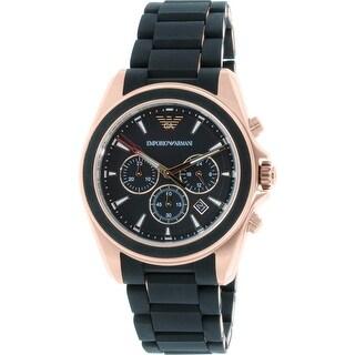 Emporio Armani Men's AR6066 Black Silicone Japanese Quartz Dress Watch