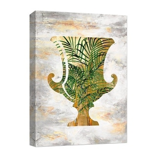 """PTM Images 9-124878  PTM Canvas Collection 10"""" x 8"""" - """"Golden Pot"""" Giclee Leaves Art Print on Canvas"""