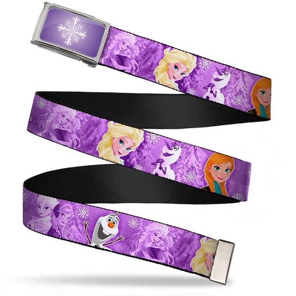 Snowflake Fcg Purple White Chrome Frozen Anna Elsa Olaf Poses Scenes Web Belt