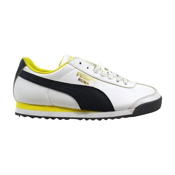 best service 9c858 deab1 Shop Puma Roma Basic Jr White/Quiet Shade-Yellow Grade-School 354259 ...
