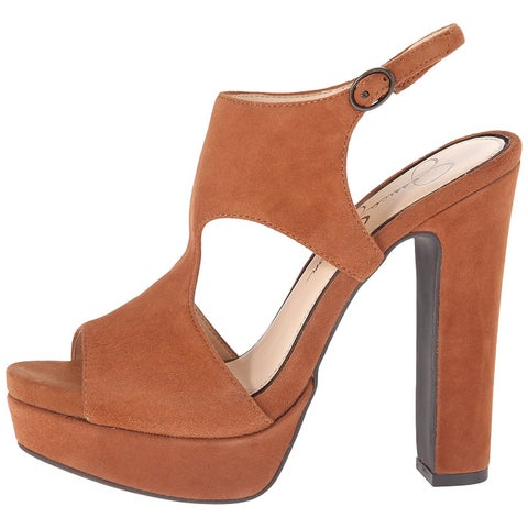 Jessica Simpson Womens Barrow Leather Open Toe Casual Platform Sandals