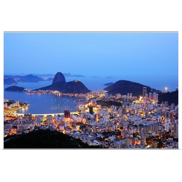 """Rio de Janeiro, Brazil, Guanabara Bay at dusk."" Poster Print"