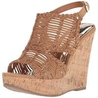 Carlos by Carlos Santana Womens Bellini Peep Toe Casual Platform Sandals