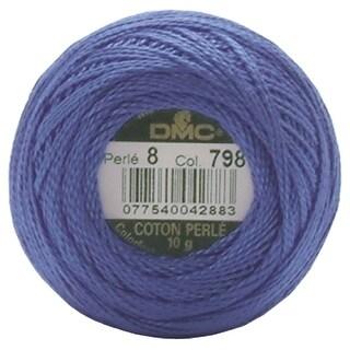 DMC Pearl Cotton Ball Size 8 87yd-Dark Delft Blue